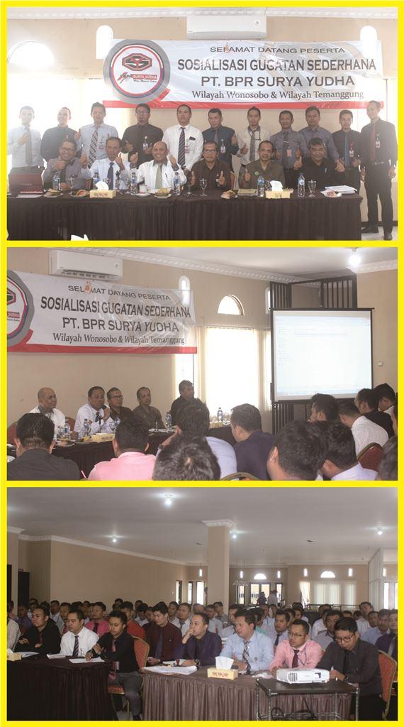 Sosialisasi Tata Cara Penyelesaian Gugatan Sederhana di BPR Surya Yudha