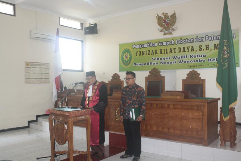 Pelantikan Yunizar Kilat Daya, S.H.,M.H menjadi Wakil Ketua Pengadilan Negeri Wonosobo